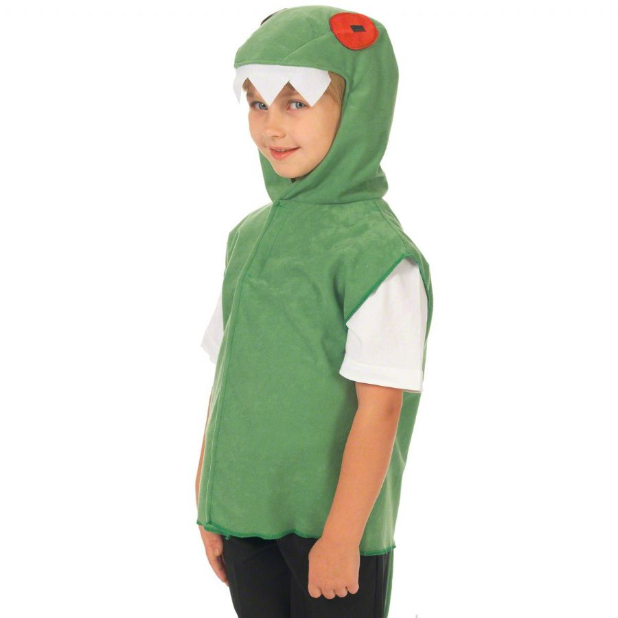 Children's Kids Boys Girls Crocodile Tabard Fancy Dress Up Costume (1)